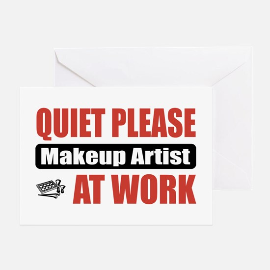 Makeup Artist Work Greeting Card