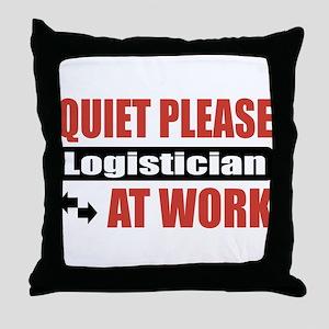 Logistician Work Throw Pillow