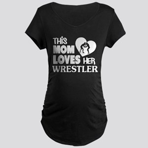 This Mom Love Her Wrestler T Shi Maternity T-Shirt