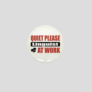 Linguist Work Mini Button