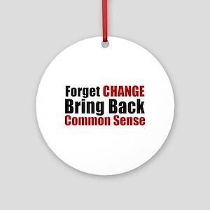 Common Sense Ornament (Round)