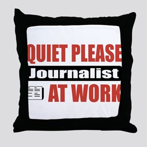 Journalist Work Throw Pillow