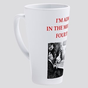 Funny joke on gifts and t-shirts. 17 oz Latte Mug