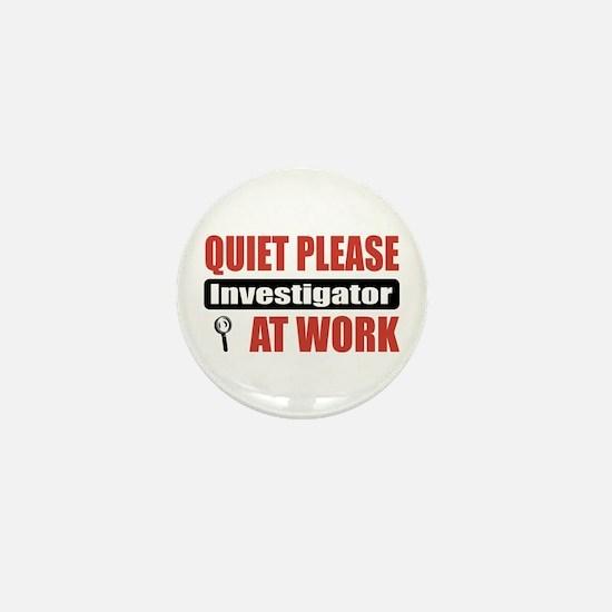 Investigator Work Mini Button