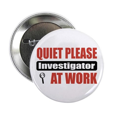 "Investigator Work 2.25"" Button (10 pack)"