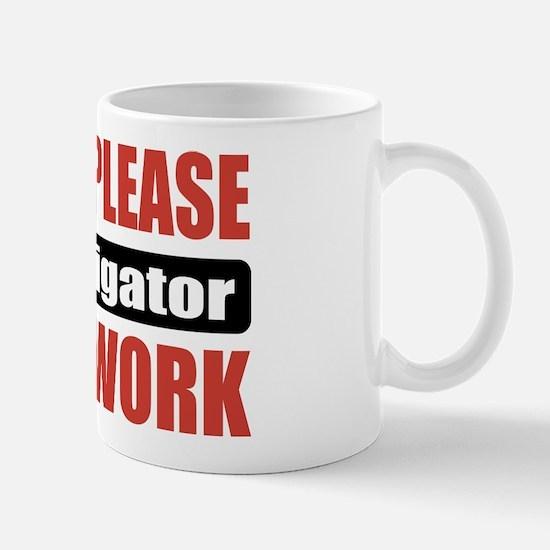 Investigator Work Mug