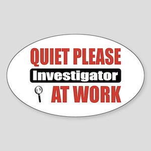 Investigator Work Oval Sticker