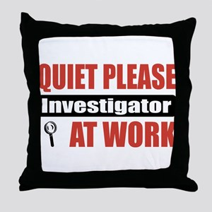 Investigator Work Throw Pillow
