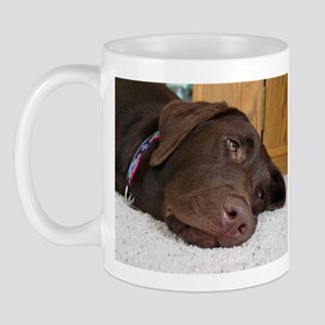 Chocolate Lab Thoughts Mug