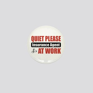 Insurance Agent Work Mini Button