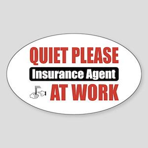 Insurance Agent Work Oval Sticker