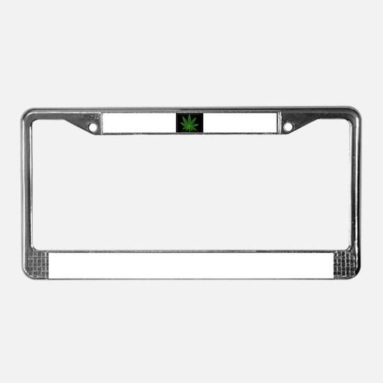 Cute 420 License Plate Frame