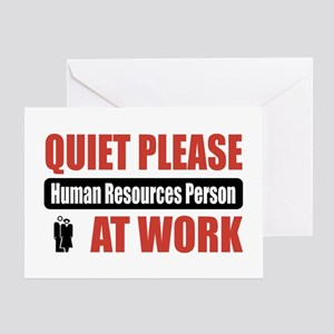 Human Resources Person Work Greeting Card
