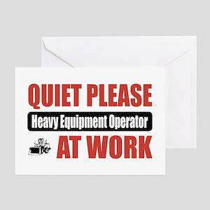 Heavy Equipment Operator Work Greeting Card