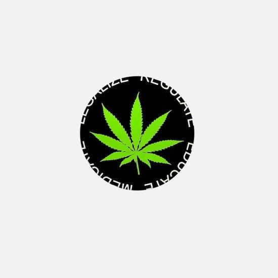 Cute Marijuana legalization Mini Button
