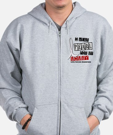 I Wear Pearl For My Mommy 37 Zip Hoodie
