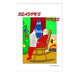 Relaxing Santa Postcards (Package of 8)