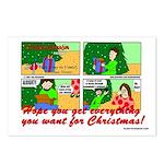 Vinnie the Vandal Xmas Postcards (Package of 8)