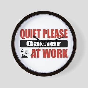 Gamer Work Wall Clock