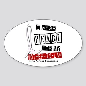 I Wear Pearl For My Mother-In-Law 37 Sticker (Oval