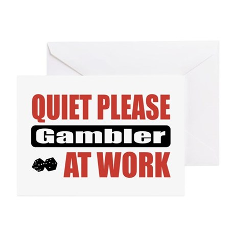 Gambler Work Greeting Cards (Pk of 20)