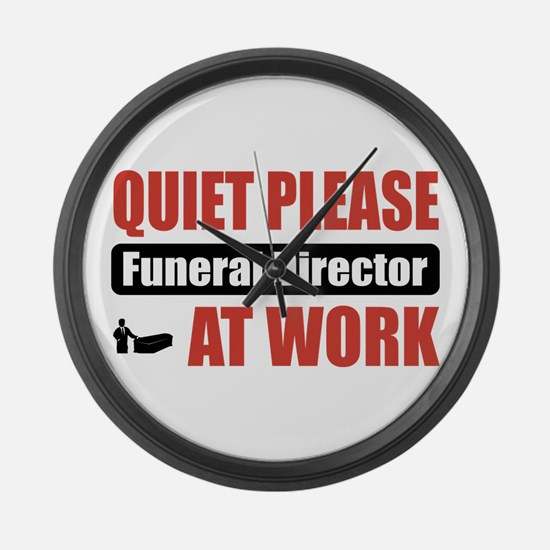 Funeral Director Work Large Wall Clock