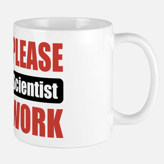 Forensic Scientist Work Mug