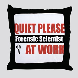 Forensic Scientist Work Throw Pillow