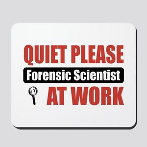 Forensic Scientist Work Mousepad