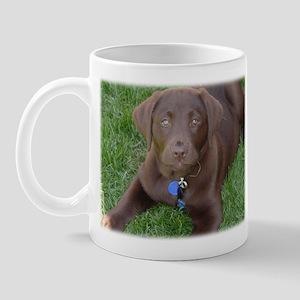 Chocolate Lab Grass Mug