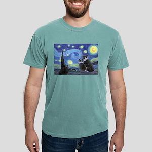 Starry Night Border Collie T-Shirt