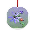 Ladybug Doodlely Critter Round Ornament