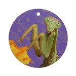 Mantis Doodlely Critter Round Ornament