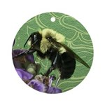 Bumblebee Doodlely Critter Round Ornament