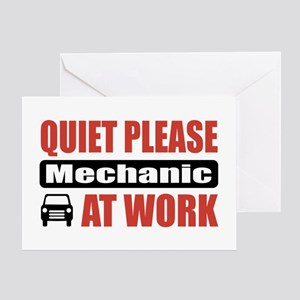 Mechanic Work Greeting Card