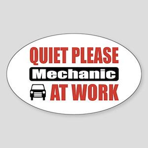 Mechanic Work Oval Sticker