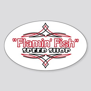Speed Shop Oval Sticker