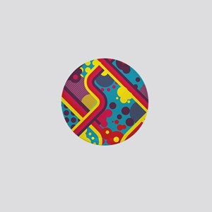 Bold Colourful Vector Design Mini Button