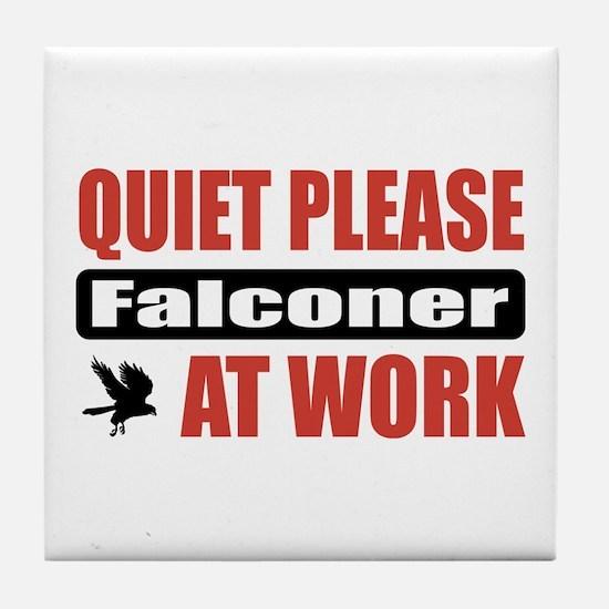 Falconer Work Tile Coaster
