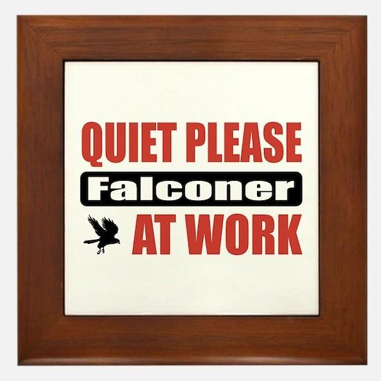 Falconer Work Framed Tile