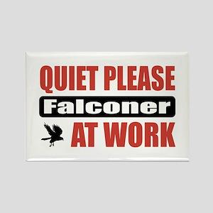Falconer Work Rectangle Magnet