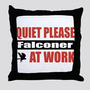 Falconer Work Throw Pillow