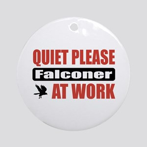 Falconer Work Ornament (Round)