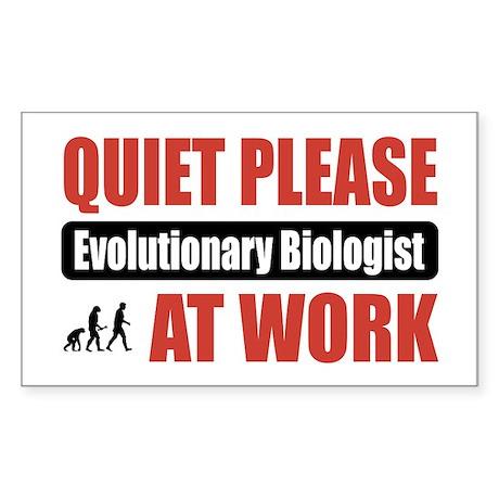 Evolutionary Biologist Work Rectangle Sticker