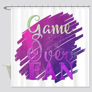 Game Over fan Shower Curtain