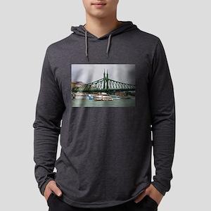 Liberty bridge and boats, Buda Long Sleeve T-Shirt
