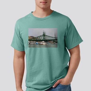 Liberty bridge and boats, Budapest T-Shirt