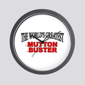 """The World's Greatest Mutton Buster"" Wall Clock"