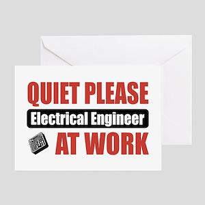 Electrical Engineer Work Greeting Card