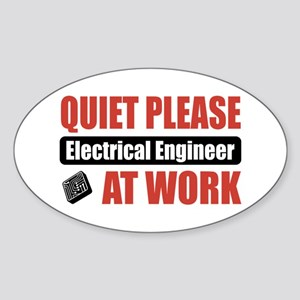 Electrical Engineer Work Oval Sticker